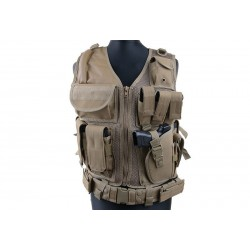 GFC TACTICAL - Gilet Tactique KAM-39 - TAN