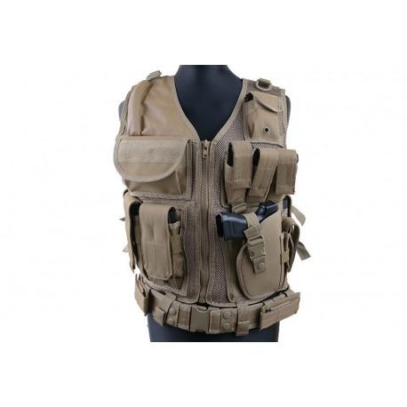 GFC TACTICAL - Gilet Tactique KAM-39 - TAN