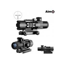 AIMO - Tactical scope 4x32 avec reticule lumineux