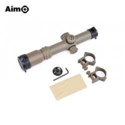 AIMO - Lunette 1-4x24SE avec réticule lumineux rouge/vert