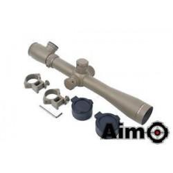 AIMO - Lunette 3.5-10X40E-SF Tan avec réticule lumineux rouge/vert