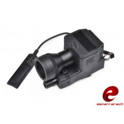 ELEMENT AIRSOFT - Lampe LED 200 lumens ELLM 01 + laser rouge