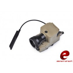 ELEMENT AIRSOFT - Lampe LED 200 lumens ELLM 01 Tan + laser rouge