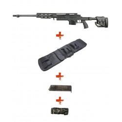 WELL - Pack Sniper MB4411A Noir + housse + sangle + BB Loader