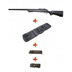 WELL - Pack Sniper MB03A Noir avec Sangle + BB loader + Housse
