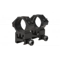THETA OPTICS - x2 Anneaux de montage haut pour lunette 30mm