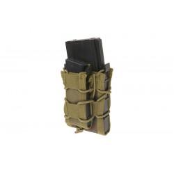 GFC TACTICAL - Poche pour 1 chargeur PA + 1chargeur M4/G36/AK - WOODLAND