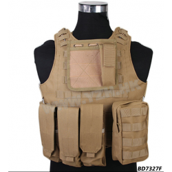 EMERSON - Gilet Plate Carrier AMPHIBIOUS - TAN