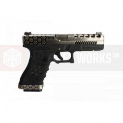 G17 Hex-Cut (AW-VX0100 - Black) gaz blowback - AW CUSTOM