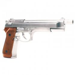 WE - M92L GBB gaz - 0,9 joule - CHROME