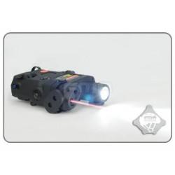 FMA - Boitier PEQ avec fonction lampe LED/ IR /laser rouge - NOIR