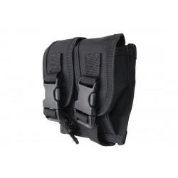GFC - Poche double pour chargeur arme de poin/grenade 40mm - NOIR