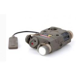 FMA - Boitier AN-PEQ15 avec fonction lampe LED/laser rouge - TAN