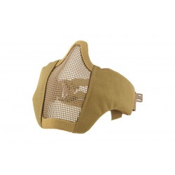 ULTIMATE TACTICAL - Masque grillagé avec attache pour casque - TAN