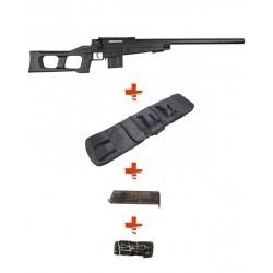 WELL - Pack Sniper MB4408A Noir avec Sangle + BB loader + Housse