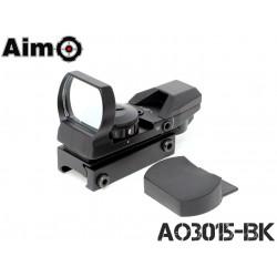 AIMO - Viseur point rouge/vert multi réticule Noir