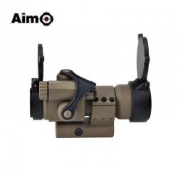 AIMO - Viseur point rouge/vert M2 avec fixation L desert