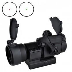 AIMO - Viseur point rouge/vert M2 avec fixation L noir