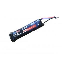 BLUE MAX - Batterie Lipo 7,4V 550mAh 20C AEP