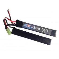 BLUE MAX - Batterie Lipo 7,4V 3300mAh 30C