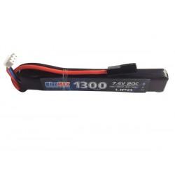 BLUE MAX - Batterie Lipo 7,4V 1300mAh 20C