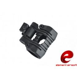 ELEMENT AIRSOFT - Fixation lampe 5 positions pour rail 22mm