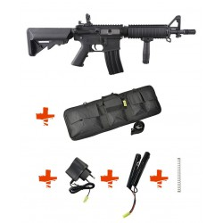 SPECNA ARMS - Pack M4 RRA SA-C04 CORE noir + Batterie + Chargeur de batterie + Ressort M90 + Housse