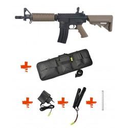SPECNA ARMS - Pack M4 RRA SA-C04 CORE tan + Batterie + Chargeur de batterie + Ressort M90 + Housse