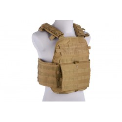 GFC TACTICAL - Gilet tactique type ARMOR Plate Carrier - TAN