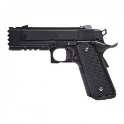 Pistolet Airsoft 1911 Custom NIGHT WARRIOR GBB GAZ - 0,8 joule - NOIR