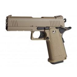 Pistolet Airsoft Hi-capa Custom DESERT WARRIOR GBB Gaz - TAN