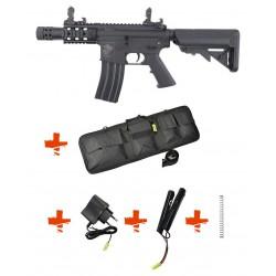 SPECNA ARMS - Pack M4 RRA SA-C10 CORE noir + Batterie + Chargeur de batterie + Ressort M90 + Housse