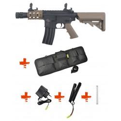 SPECNA ARMS - Pack M4 RRA SA-C10 CORE tan + Batterie + Chargeur de batterie + Ressort M90 + Housse