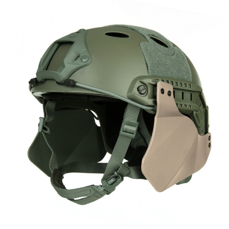 Caches Lateraux Side Cover Pour Casque Fast Tan