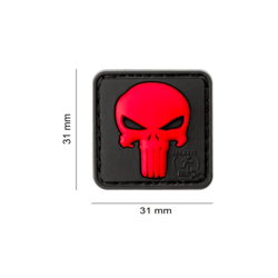 JTG - Patch PVC Punisher - ROUGE