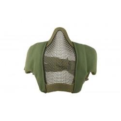 ULTIMATE TACTICAL - Masque grillagé avec attache pour casque - OD