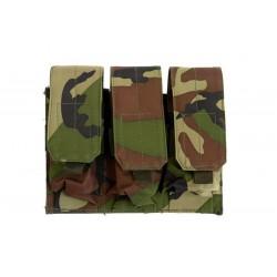 GFC - Poches triple pour chargeurs type M4/M16 - Woodland