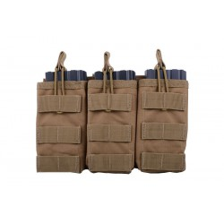 Triple Poches chargeurs type M4/AK/G36 tan - GFC