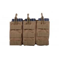 GFC - Triple Poches pour chargeurs M4/AK/G36 - TAN