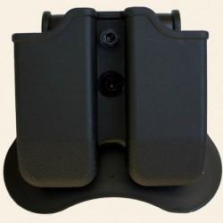 Porte chargeurs universel rigide noir (sauf 1911) - AMOMAX