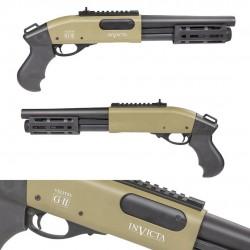 SECUTOR - Fusil à pompe VELITES INVICTA G-II - TAN - Gaz 3/6 billes