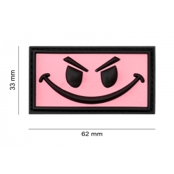 JTG - Patch PVC Evil Smile - ROSE