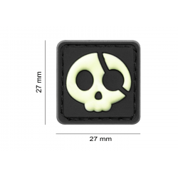 JTG - Patch PVC Halloween Pirate - PHOSPHO