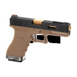 WE - S17 G-FORCE T6 GBB Gaz -1 Joule - NOIR/OR/NOIR