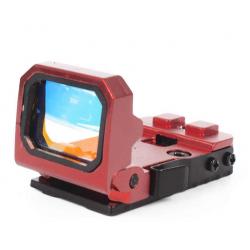 BIG DRAGON - Mini Viseur point rouge FLIP DOT plat rabattable - ROUGE