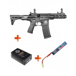 SAIGO DEFENSE - Pack M4 RONIN NOIR + Batterie lipo 7,4V + chargeur de batterie