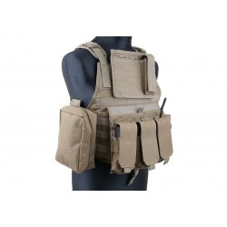 GFC TACTIACL - Gilet tactique type CIRAS/Plate carrier - TAN