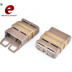 ELEMENT AIRSOFT - 5.56 FAST MAG pour chargeur type M4 - TAN
