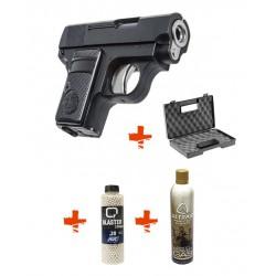 Colt 25 HFC + Billes 0,20gr + Gaz + Mallette