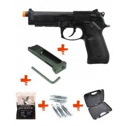 Pack M92 A1 HFC + mallette + billes 0,25gr + 5 cartouches de Co2 + 1 chargeur
